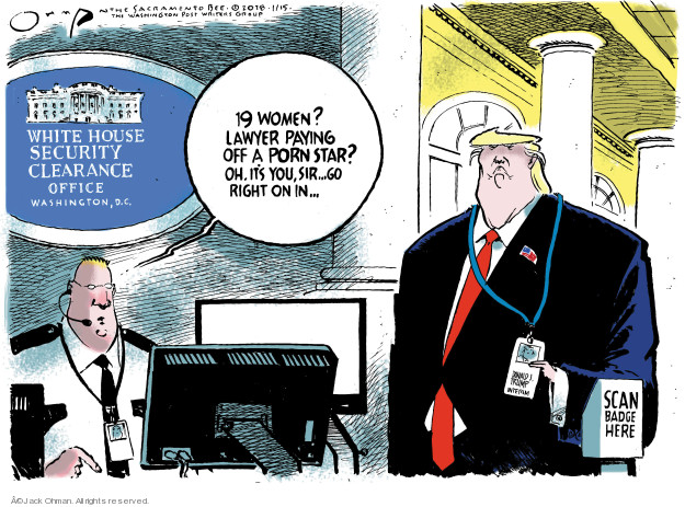 Cartoonist Jack Ohman  Jack Ohman's Editorial Cartoons 2018-02-15 sexual harassment