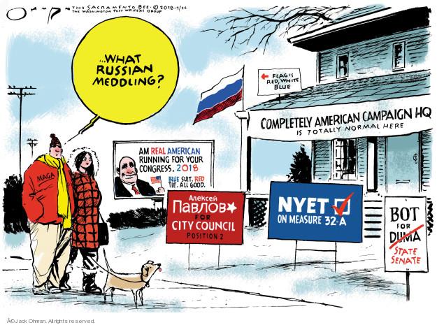 Cartoonist Jack Ohman  Jack Ohman's Editorial Cartoons 2018-02-22 international politics