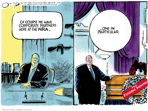 Cartoonist Jack Ohman  Jack Ohman's Editorial Cartoons 2018-02-23 gun rights