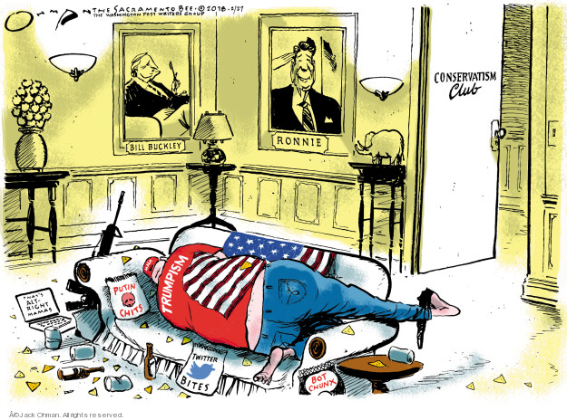 Cartoonist Jack Ohman  Jack Ohman's Editorial Cartoons 2018-02-27 Ronald Reagan