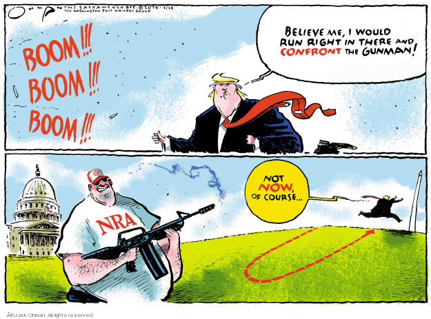 Cartoonist Jack Ohman  Jack Ohman's Editorial Cartoons 2018-02-28 gun rights