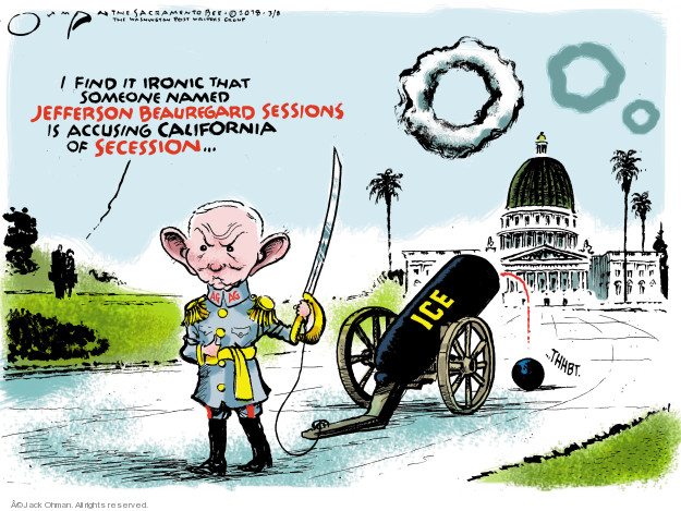 Cartoonist Jack Ohman  Jack Ohman's Editorial Cartoons 2018-03-09 law