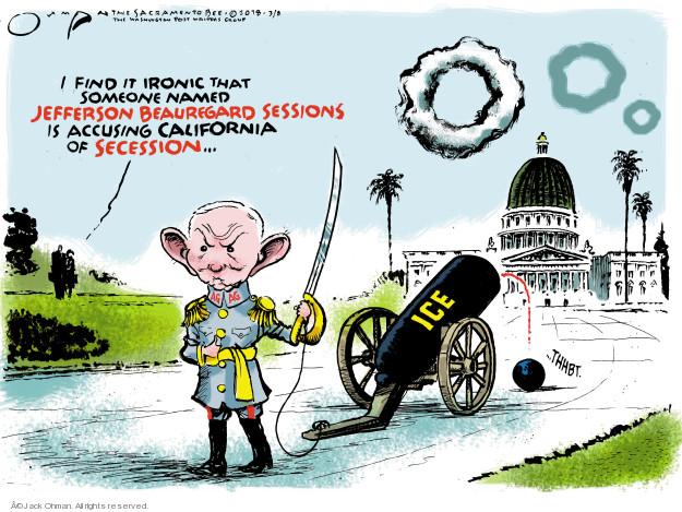 Jack Ohman  Jack Ohman's Editorial Cartoons 2018-03-09 Justice Department