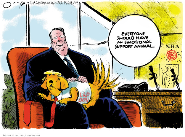 Cartoonist Jack Ohman  Jack Ohman's Editorial Cartoons 2018-03-14 gun rights