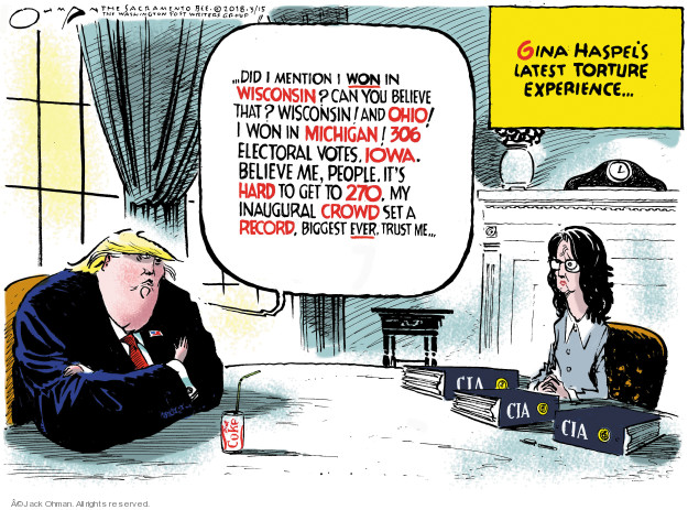 Jack Ohman  Jack Ohman's Editorial Cartoons 2018-03-16 Wisconsin