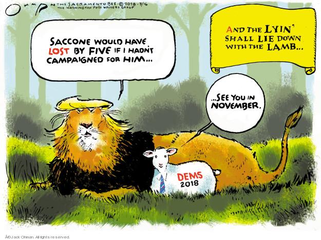 Cartoonist Jack Ohman  Jack Ohman's Editorial Cartoons 2018-03-17 congressman