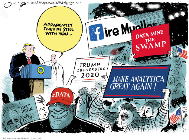 Cartoonist Jack Ohman  Jack Ohman's Editorial Cartoons 2018-03-20 interference