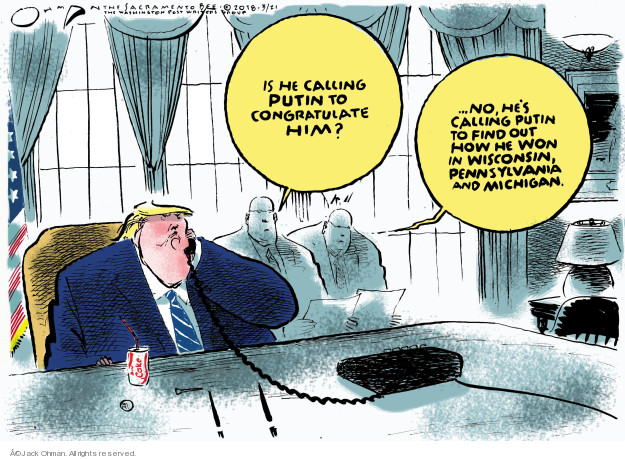 Cartoonist Jack Ohman  Jack Ohman's Editorial Cartoons 2018-03-21 interference