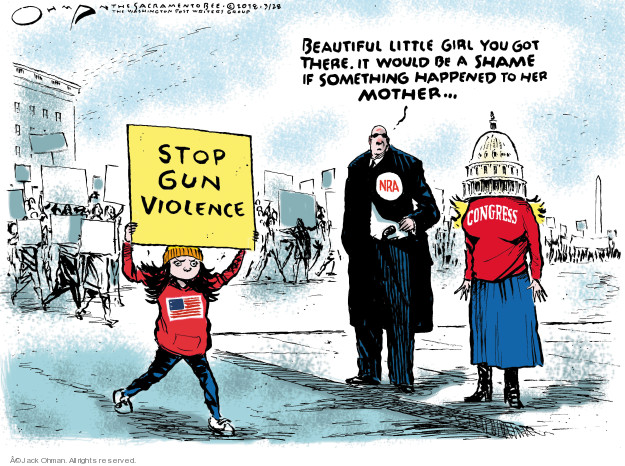 Cartoonist Jack Ohman  Jack Ohman's Editorial Cartoons 2018-03-28 gun rights