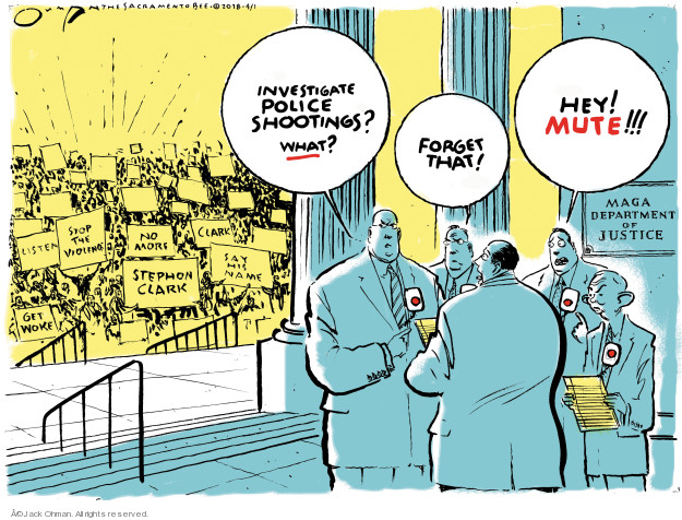 Cartoonist Jack Ohman  Jack Ohman's Editorial Cartoons 2018-04-02 Black Lives Matter