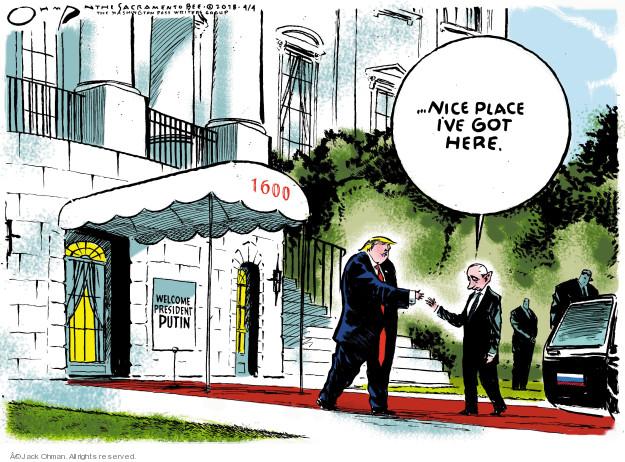 Cartoonist Jack Ohman  Jack Ohman's Editorial Cartoons 2018-04-04 international politics