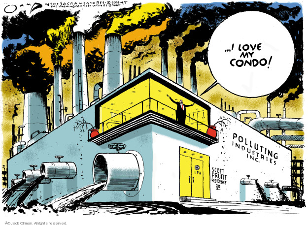 Cartoonist Jack Ohman  Jack Ohman's Editorial Cartoons 2018-04-05 lobbyist