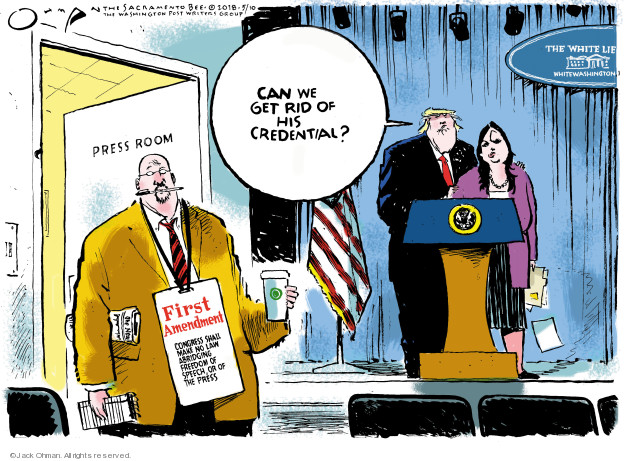 Cartoonist Jack Ohman  Jack Ohman's Editorial Cartoons 2018-05-10 law