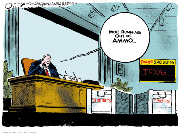 Cartoonist Jack Ohman  Jack Ohman's Editorial Cartoons 2018-05-21 gun rights