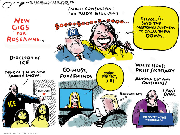 Cartoonist Jack Ohman  Jack Ohman's Editorial Cartoons 2018-05-30 Donald Trump Fox News