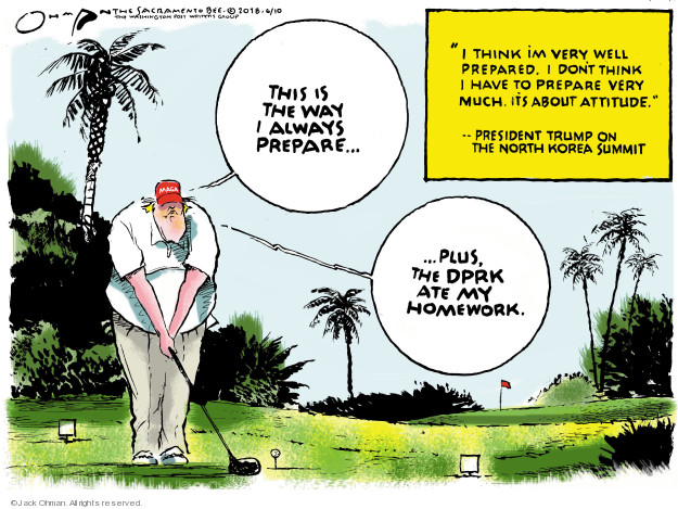 Jack Ohman  Jack Ohman's Editorial Cartoons 2018-06-10 negotiation