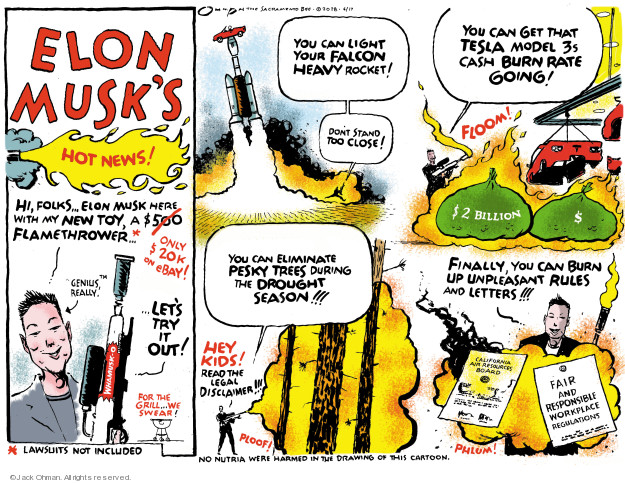 Cartoonist Jack Ohman  Jack Ohman's Editorial Cartoons 2018-06-17 technology