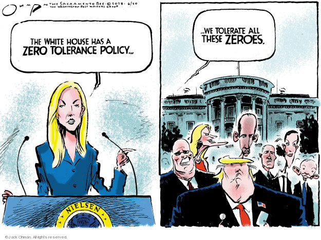 Jack Ohman  Jack Ohman's Editorial Cartoons 2018-06-20 Trump Immigration