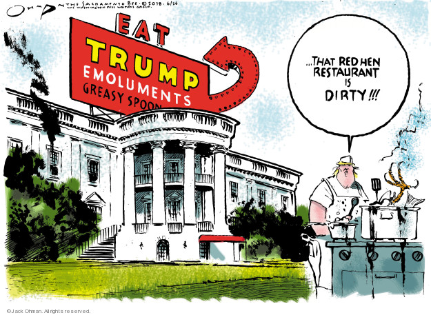 Cartoonist Jack Ohman  Jack Ohman's Editorial Cartoons 2018-06-26 Trump Family