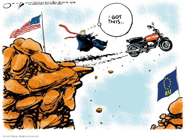 Jack Ohman  Jack Ohman's Editorial Cartoons 2018-06-28 international trade