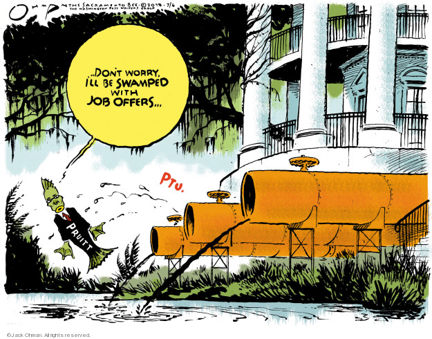 Jack Ohman  Jack Ohman's Editorial Cartoons 2018-07-06 presidential cabinet