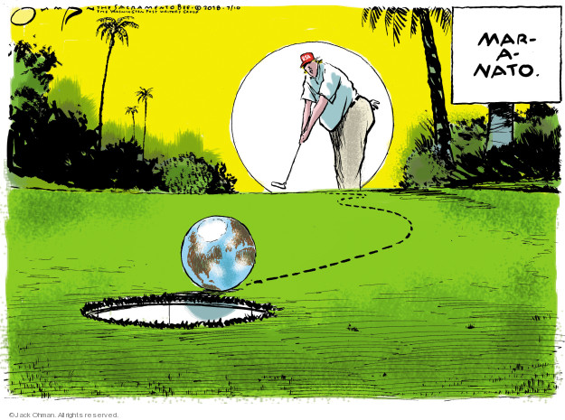 Jack Ohman  Jack Ohman's Editorial Cartoons 2018-07-10 Mar-a-Lago
