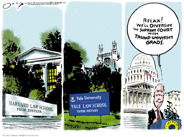 Cartoonist Jack Ohman  Jack Ohman's Editorial Cartoons 2018-07-11 law