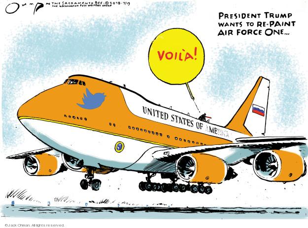 Cartoonist Jack Ohman  Jack Ohman's Editorial Cartoons 2018-07-13 Presidency