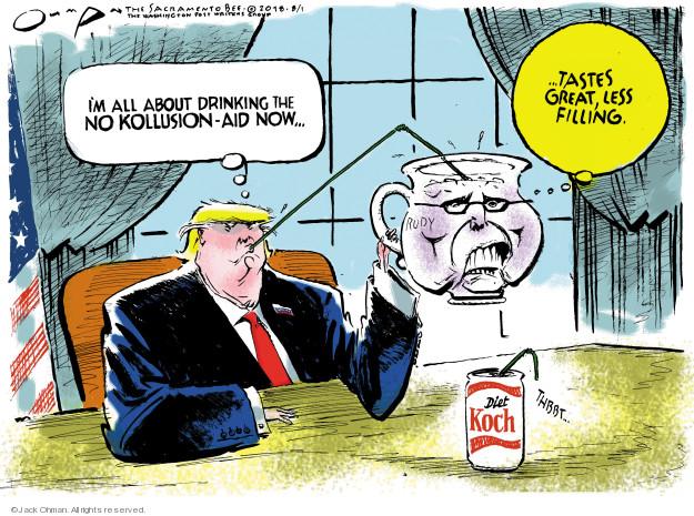 Cartoonist Jack Ohman  Jack Ohman's Editorial Cartoons 2018-08-01 Rudy Giuliani