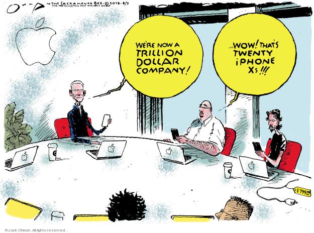 Cartoonist Jack Ohman  Jack Ohman's Editorial Cartoons 2018-08-03 business