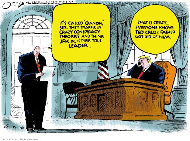 Cartoonist Jack Ohman  Jack Ohman's Editorial Cartoons 2018-08-09 John Kennedy