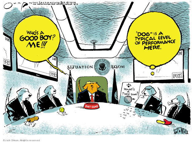 Cartoonist Jack Ohman  Jack Ohman's Editorial Cartoons 2018-08-16 Donald Trump Fox News