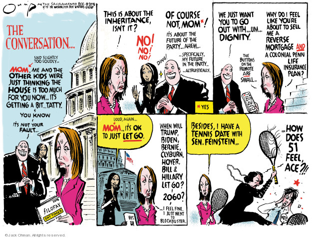Cartoonist Jack Ohman  Jack Ohman's Editorial Cartoons 2018-08-19 senator