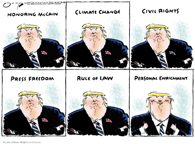 Jack Ohman  Jack Ohman's Editorial Cartoons 2018-08-31 rule of law