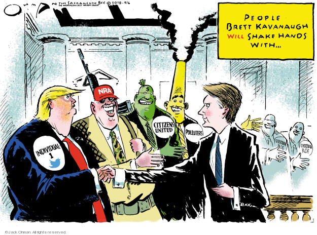 Cartoonist Jack Ohman  Jack Ohman's Editorial Cartoons 2018-09-06 executive branch