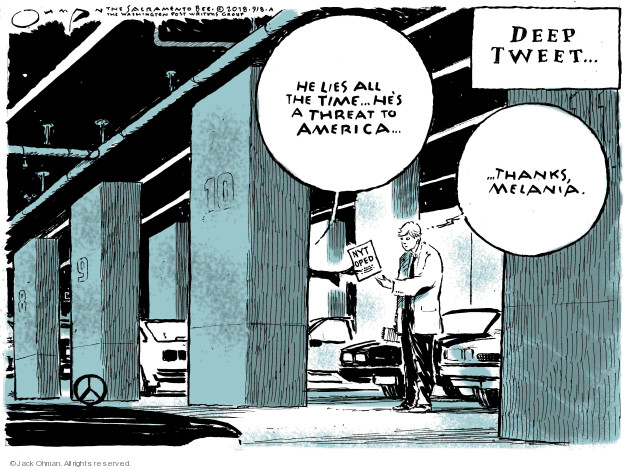 Jack Ohman  Jack Ohman's Editorial Cartoons 2018-09-08 Presidency