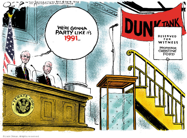 Cartoonist Jack Ohman  Jack Ohman's Editorial Cartoons 2018-09-20 assault
