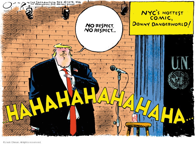 Cartoonist Jack Ohman  Jack Ohman's Editorial Cartoons 2018-09-26 Donald Trump