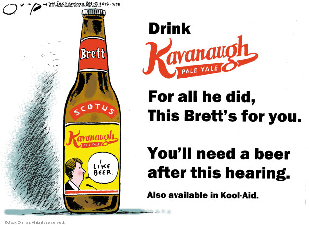 Drink Kavanaugh Pale Yale. For all he did, This Bretts for you. Youll need a beer after this hearing. Also available in Kool-Aid. Brett. SCOTUS. Kavanaugh Pale Yale. I like beer.