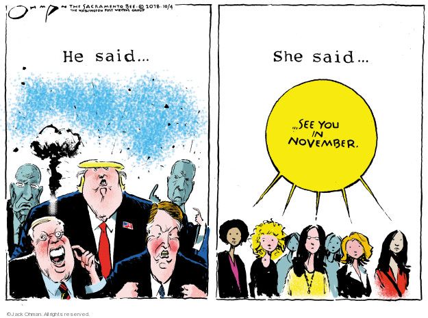 Cartoonist Jack Ohman  Jack Ohman's Editorial Cartoons 2018-10-04 assault