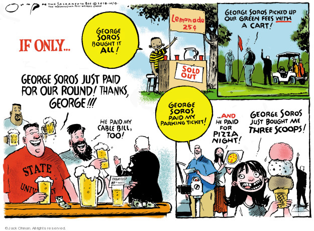 Cartoonist Jack Ohman  Jack Ohman's Editorial Cartoons 2018-10-13 give thanks