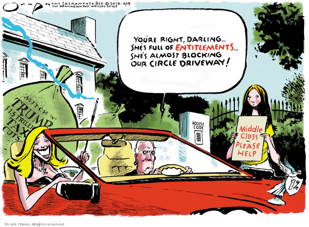 Jack Ohman  Jack Ohman's Editorial Cartoons 2018-10-19 income inequality