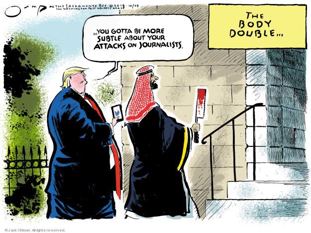 Cartoonist Jack Ohman  Jack Ohman's Editorial Cartoons 2018-10-23 attack