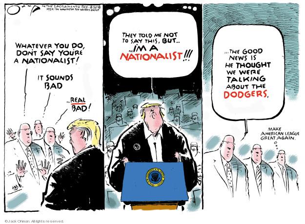 Cartoonist Jack Ohman  Jack Ohman's Editorial Cartoons 2018-10-24 Donald Trump