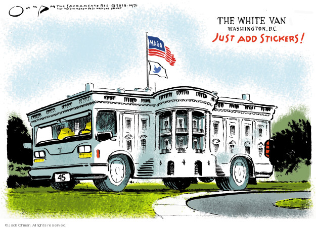 Cartoonist Jack Ohman  Jack Ohman's Editorial Cartoons 2018-10-31 Donald Trump
