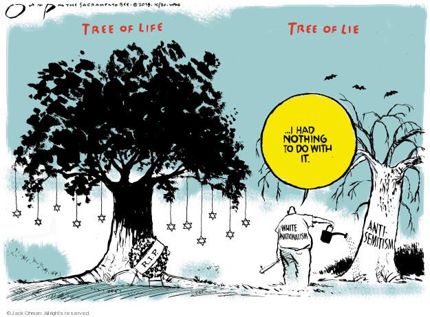 Cartoonist Jack Ohman  Jack Ohman's Editorial Cartoons 2018-10-30 gun massacre