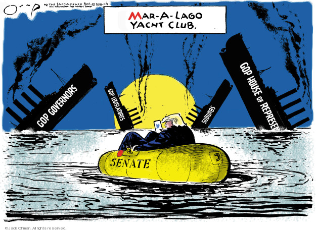 Jack Ohman  Jack Ohman's Editorial Cartoons 2018-11-08 Mar-a-Lago