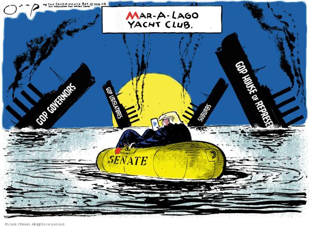 Mar-a-Lago Yacht Club. GOP Governors. GOP House of Representatives. Suburbs. GOP Legislatures. Senate.