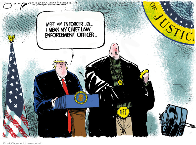 Jack Ohman  Jack Ohman's Editorial Cartoons 2018-11-09 presidential cabinet