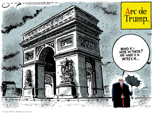 Cartoonist Jack Ohman  Jack Ohman's Editorial Cartoons 2018-11-14 war